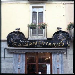 Salsamentario, insegna (part.), 1998 © Regione Piemonte