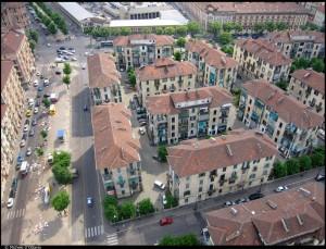 Veduta aerea del 14° Quartiere IACP. Fotografia di Michele D'Ottavio, 2011. © MuseoTorino