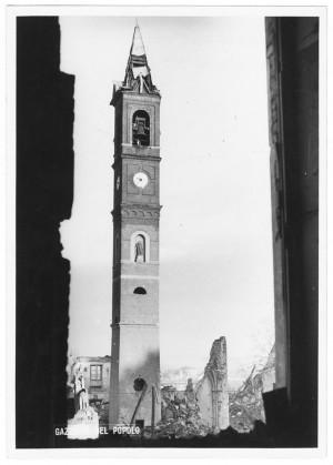 Chiesa Madonna di Campagna, Via Cardinale Massaia 98. Effetti prodotti dai bombardamenti dell'incursione aerea dell'8-9 dicembre 1942. UPA 2813D_9D01-17. © Archivio Storico della Città di Torino