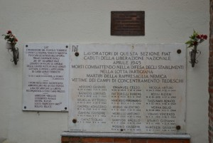 Lapidi Resistenza. Fotografia di Laura Tori, 2012.