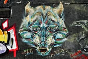 Truly Design, murale senza titolo, 2018, giardinetti di via Fattori. Fotografia di Roberto Cortese, 2018 © Archivio Storico della Città di Torino