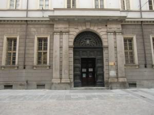 Palazzo Campana. Ingresso principale su via Carlo Alberto 10. Fotografia di Andrea Bruno jr. per MuseoTorino.
