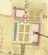 Cascina Bellezia. Disegno dei terreni esistenti tra Torino, Beinasco e Drosso, 1642. © Archivio Storico della Città di Torino