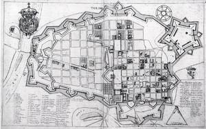 Carlo Morello. Pianta di Torino 1656. © Biblioteca Reale di Torino