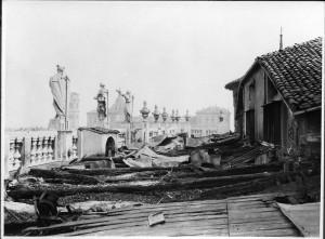 Palazzo Madama, tetto, effetti dei bombardamenti. Fondazione Torino Musei, Archivio fotografico. © Fondazione Torino Musei