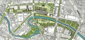 Planimetria del Parco Dora. © Studio Pession Associato-Pession Engineering