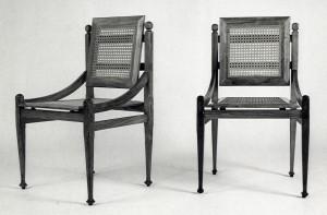 Gabetti e Isola - designer, Sedie per la Bottega d'Erasmo, Torino, , 1954, produzione Colli, fotografia di Riccardo Moncalvo (Archivio Gabetti&Isola, Studio Isola, Torino)