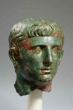 Una testa-ritratto in bronzo dorato