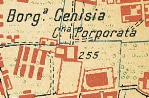 Cascina Porporata. Istituto Geografico Militare, Pianta di Torino e dintorni, 1911, © Archivio Storico della Città di Torino