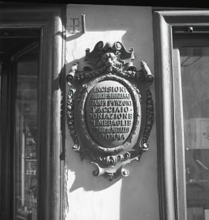 Villarboito, tipografia, insegna in facciata, 1998 © Regione Piemonte