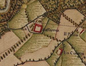 Cascina Saffarona. Carta Topografica della Caccia, 1760-1766 circa. © Archivio di Stato di Torino
