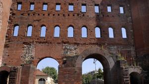 La Porta Palatina (2). Fotografia di Plinio Martelli, 2010. © MuseoTorino.