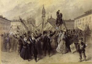 Concessione e promulgazione dello Statuto Albertino