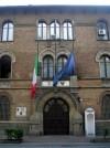 Caserma Montegrappa. Particolare dell'ingresso della palazzina di comando. Fotografia di Silvia Bertelli.