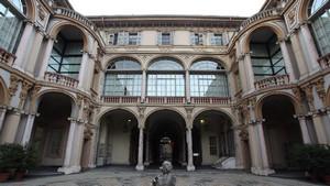 Il cortile interno di Palazzo Lascaris. Fotografia di Paolo Mussat Sartor e Paolo Pellion di Persano, 2010. © MuseoTorino