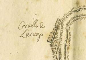 Castello di Lucento. Vincenzo Maria Ferrero Sevalle, Tipo del Corso del Fiume Dora, 1746, © Archivio Storico della Città di Torino