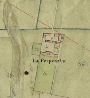 Cascina Porporata. Catasto Gatti, 1820-1830. © Archivio Storico della Città di Torino