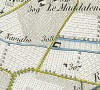 Cascina Nigra. Antonio Rabbini , Topografia della Città e Territorio di Torino, 1840. © Archivio Storico della Città di Torino