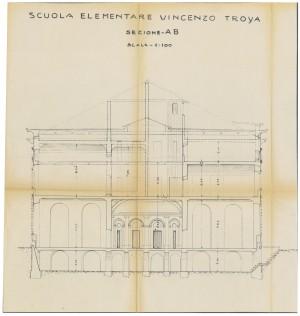 Sezione della Scuola Elementare Vincenzo Troya, senza data (ASCT, Tipi e disegni, cartella 14, fascicolo 7, n. 22) © Archivio Storico della Città di Torino