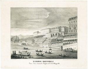 Piazza Vittorio Emanuele e regata sul Po, 14 maggio 1860. © Archivio Storico della Città di Torino