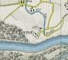 Cascina Verna di via Corniliano d'Alba 3. Antonio Rabbini , Topografia della Città e Territorio di Torino, 1840, © Archivio Storico della Città di Torino.