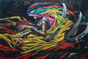 Anam Aken, murale senza titolo, 2015, via Sostegno
