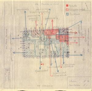 Bombardamenti aerei. Censimento edifici danneggiati o distrutti. ASCT Fondo danni di guerra inv. 36 cart. 1 fasc. 36. © Archivio Storico della Città di Torino