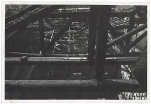 Palazzo Carignano, Via Accademia delle Scienze 5. Effetti prodotti dai bombardamenti dell'incursione aerea del 12-13 agosto 1943. UPA 3907_9E03-11. © Archivio Storico della Città di Torino/Archivio Storico Vigili del Fuoco