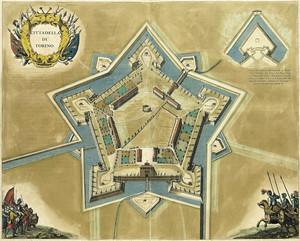 Pianta della Cittadella. Dal Theatrum Sabaudiae, I, tavola 26. © Archivio Storico della Città di Torino
