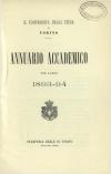 «Annuario accademico», A. XVIII, a.a. 1893-1894, Torino, copertina