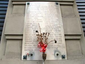 Lapide ai caduti partigiani di Vanchiglia