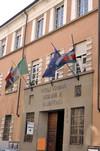 Palazzo in via Ormea, 45 (particolare). Sede della Circoscrizione 8, già sede dei Vigili Urbani. Fotografia di Mauro Raffini, 2010. © MuseoTorino.