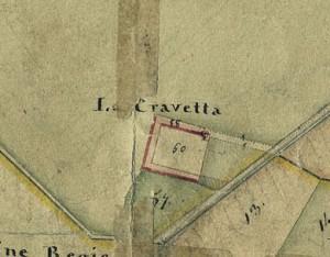 Cascina Cravetta. Catasto Gatti, 1820-1830. © Archivio Storico della Città di Torino
