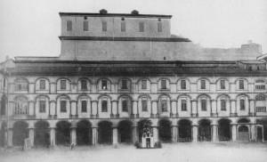 Il cortile dell'Accademia in uno scatto degli anni trenta del Novecento (da Palmas, 1989).