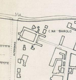 Cascina Barolo. Istituto Geografico Militare, Pianta di Torino, 1974. © Archivio Storico della Città di Torino