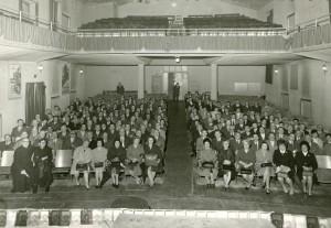 La sala nel 1969. Archivio Oratorio Michele Rua