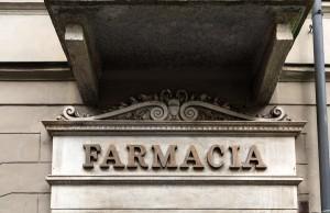 Farmacia della Rocca, particolare esterno, 2017 © Archivio Storico della Città di Torino