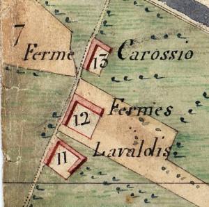 Cascina Tre Tetti Nigra. Catasto Napoleonico, 1805. © Archivio di Stato di Torino