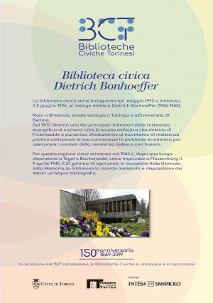 1869-2019. Biblioteca civica Dietrich Bonhoeffer