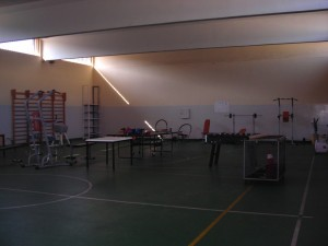Casa Circondariale Lorusso Cutugno, palestra. Fotografia di Silvia Bertelli