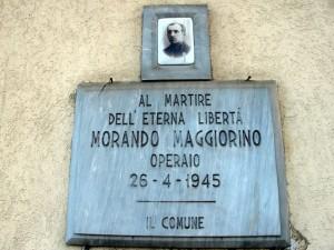 Lapide dedicata a Morando Maggiorino (1913 - 1945)