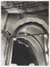 """Vicolo di Santa Maria, """"Chiesa di Santa Maria di Piazza.[…]. Effetti prodotti dai bombardamenti dell'incursione aerea del 20-21 novembre 1942. UPA 1775_9B01-14. © Archivio Storico della Città di Torino"""
