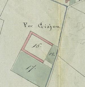 Cascina Giajone. Mappa primitiva Napoleonica, 1805. © Archivio Storico della Città di Torino