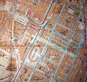 Collocazione territoriale e planimetria del carcere nel 1925. Pianta della Città di Torino.
