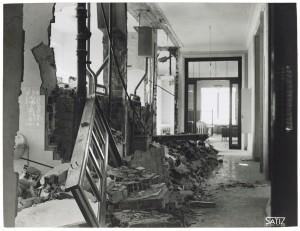 FIAT Autocentro - Stabilimento di Mirafiori. Effetti prodotti dal bombardamento dell'incursione aerea del 20-21 novembre 1942. UPA 2202_9B06-13. © Archivio Storico della Città di Torino