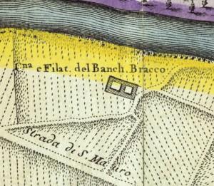 Cascina Meisino, già Cascina Bracco. Amedeo Grossi, Carta Corografica dimostrativa del territorio della Città di Torino, 1791. © Archivio Storico della Città di Torino