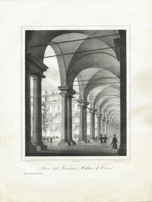 Interno dell'Accademia Militare, litografia, 1820 ca. © Archivio Storico della Città di Torino