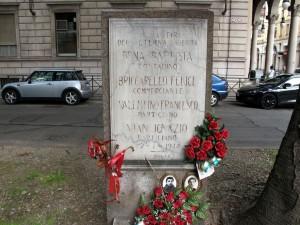 Lapide dedicata a Bena Battista, Briccarello Felice, Valentino Francesco, Vian Ignazio