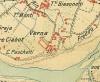 Cascina Verna di via Corniliano d'Alba 3. Istituto Geografico Militare, Pianta di Torino e dintorni, 1911, © Archivio Storico della Città di Torino