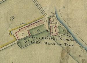Castello di Lucento. Catasto Gatti, 1820-1830. © Archivio Storico della Città di Torino